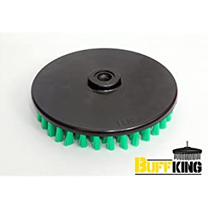 Buff King Cleaning DISC Pad Brush – 6 Inches (Green)