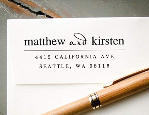 Self-Inking Return Address Stamp, Pre-Inked Custom Rubber Stamp, Personalized Envelope Addressing Ink Stamp