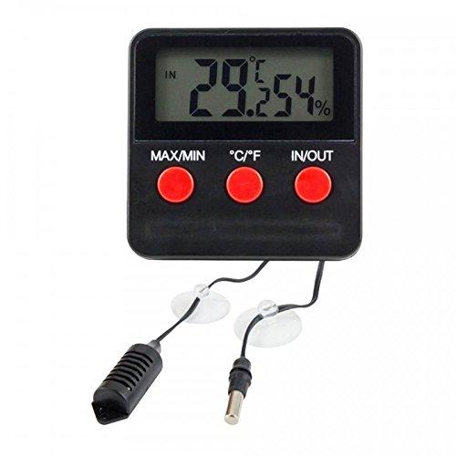 4 opinioni per Lantelme 2588 Termometro digitale, igrometro con 2 sensori remoti e funzione