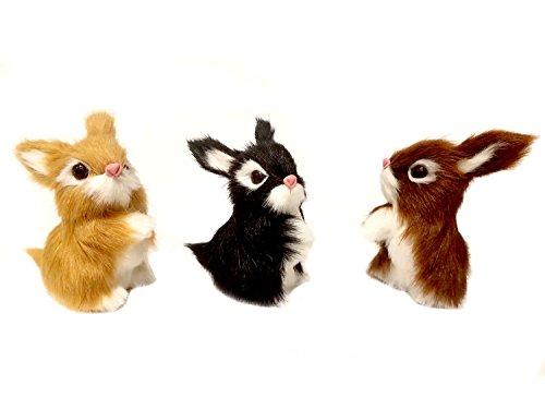 One Hundred 80 Degrees Assorted Furry Rabbit Home Decor Figu