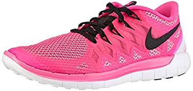 Nike Womens Free 5.0+ Running Shoes (5, Pink Pow/Polarized Pink/Black)