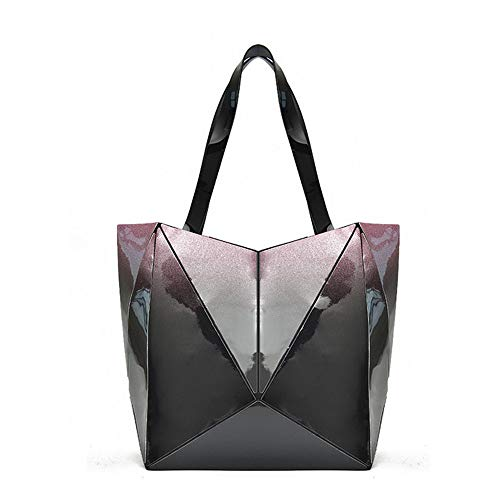 Mzdpp Sac À Bandoulière Geometry Zipper Lingge Bag Sac À Bandoulière Pliable Pour Femme 5 Couleurs Pink