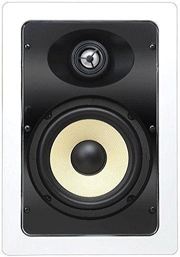 OSD Audio IW690 6.5'' Kevlar In Wall Home Theater Speaker (Pair, White) by OSD Audio