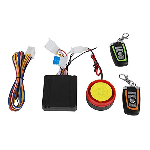 Zopsc Universal Anti Theft Motorcycle Security Alarm System Waterproof with Horn and 2 Remote Controller for Engine Start 125dB Loud and Flashing Lights Warning, Suitable for Most 12V Motorcycles (Best Immobiliser For Motorcycles)