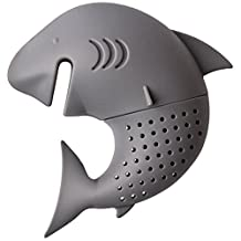 SODIAL(R) Cute Silicone Shark Infuser Loose Tea Leaf Strainer Herbal Spice Filter Diffuser