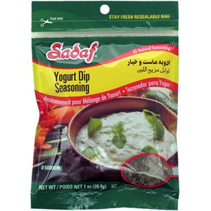 - Sadaf Yogurt Cucumber (Mast-o-Khiyar) Dip Mix Seasoning 1 ounce (Pack of 2)