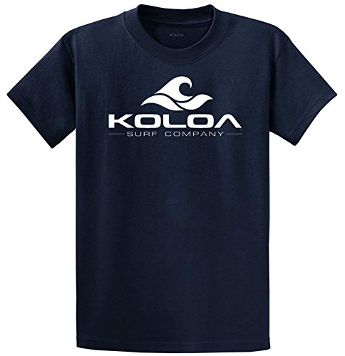 (Koloa Surf Classic Wave Logo Cotton T-Shirt-Small,Navy/w)