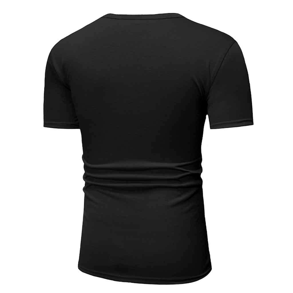 Blusa de Camiseta de Manga Corta Camisetas de impresi/ón de Color s/ólido de Moda Casual para Hombre de Verano Superior Suave y Transpirable Camisa Deportiva Casual Chaleco Btruely Camisas Hombre