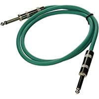 Seismic Audio SASTSX-3Green-6PK 3-Feet TS 1/4-Inch Guitar, Instrument, or Patch Cable, Green