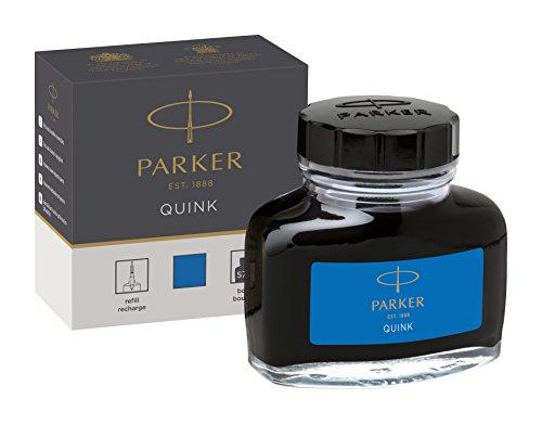 PARKER QUINK Ink Bottle, Washable Blue, 57 - Refill Blue Bottled Ink