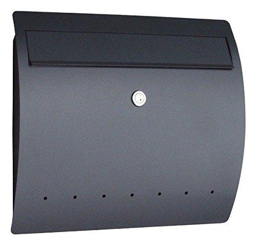 ポスト 郵便受け 壁掛け 壁付け 郵便ポスト ステンレス 鍵付 ライン ドイツserafini製 モダン /ブラック  ブラック B0772RW9QN