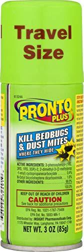 Pronto Plus | Kills Bedbugs & Dust Mites | 3 oz | Pack of 4