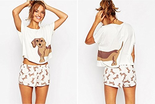 Loose Pajama Sets Women Cute Dachshund Print 2 Pieces for sale  Delivered anywhere in USA