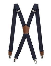 Tirantes de Dockers para hombre, clips resistentes y correas ajustables en la espalda para adultos