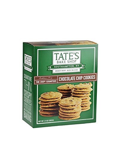 Tate's Bake Shop Chocolate Chip Cookies, Family Size 3 Pack Jjs( 21 oz each ) by Tate's