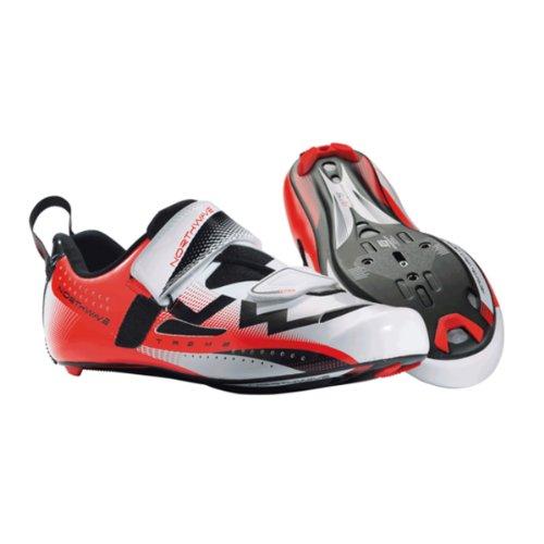 North Extrem Triathlon Skor - Mens Vit / Röd