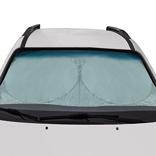 Best Quality Windshield Sun Shade For Any Vehicle- Cars Trucks and SUVs To Keep Interior Cool, Large Size 78'x28' Protects From Summer Sun UV, Ice and Snow in Winter, Bonus Extra Shade For Back Window