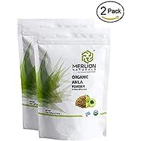Organic Amla Powder by Merlion Naturals (Indian Gooseberry/Emblica Officinalis) - Certified Organic (454 gm)