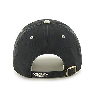 MLB Colorado Rockies Ice Adjustable Hat, One Size, Black