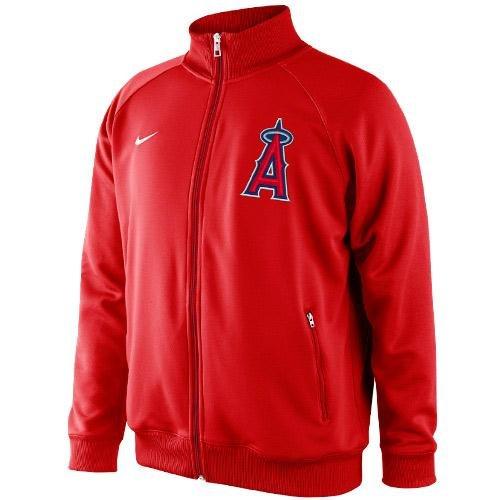 (Nike Los Angeles Angels of Anaheim Rundown Full Zip Track Jacket - Red (Medium))
