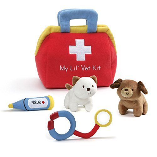 Baby Gund Activity Playset - Baby GUND My Lil' Vet Kit Plush Playset 8