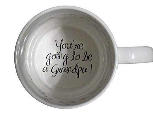 You're Going to be a Grandpa Coffee Mug, Pregnancy Announcement, pregnancy reveal , Bottom, hidden message, secret message, Coffe cup