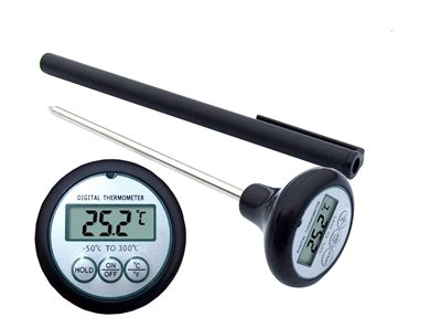 ETHMEAS Instant Read Fast Digital Meat and Cooking Food/ Kitchen /Restaurant /BBQ Electronic Food Thermometer-black