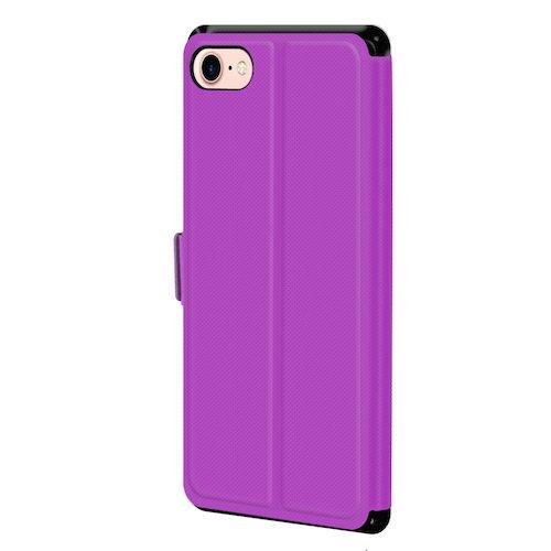 betterfon | Flipcover Handytasche Schutzhülle Case Buch Klapptasche Handyhülle Handy Schale + Gratis Displayschutzfolie für Apple iPhone 7 Lila