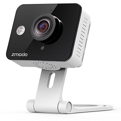 Zmodo True HD Mini WiFi Wireless Wide Angle Indoor Home Video Security Camera Two-Way Audio, Cloud Service Available (Certified Refurbished) by Zmodo