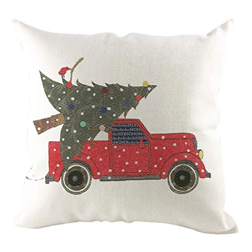 DAGE 4545cm Merry Christmas Throw Pillow Cases Cotton Linen Sofa Square Cushion Cover Home Decor for Sofa, Couch