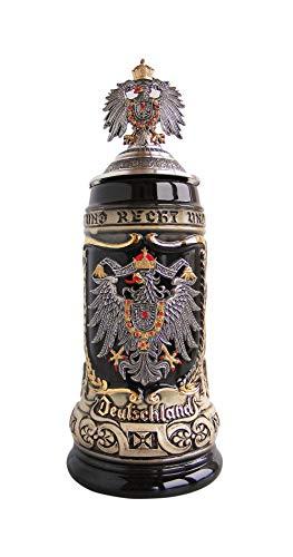 German Beer Stein - German Beer Stein German with state coat of Arms Stein 0.5 liter tankard, beer mug ZO 1425/9009