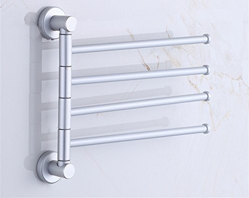 HOMEE Toilet Towel Hanging Rack for Bathroom Rotating Towel Bar by HOMEE