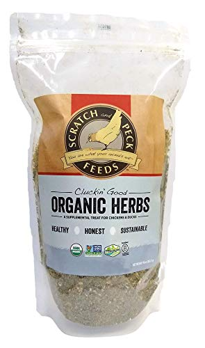 Scratch and Peck Feeds - Cluckin' Good Organic Herbs for Chickens and Ducks - 10-oz