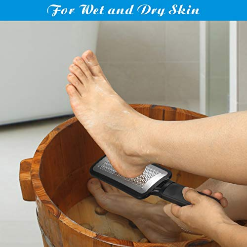 Colossal Foot Rasp Foot Files Callus Remover, Professional Foot Care Pedicure Stainless Steel File to Removes Hard Skin, Can Be Used On Both Dry and Wet Feet