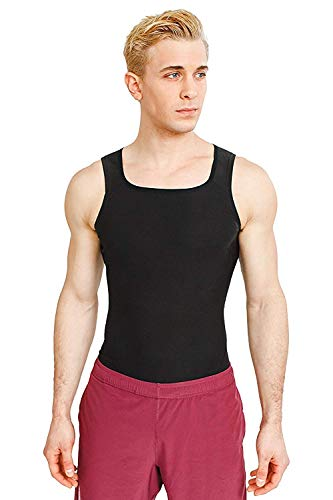 Carecroft Sweat Shaper Vest belt for Men, Polymer Shapewear, Workout Tank top for Weight Loss waist slim trimmer tummy body slimming, hot belly burner, sauna, trainer tucker