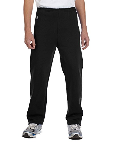 Russell Athletic Youth Dri-Power Open-Bottom Fleece Pant, BLACK, ()