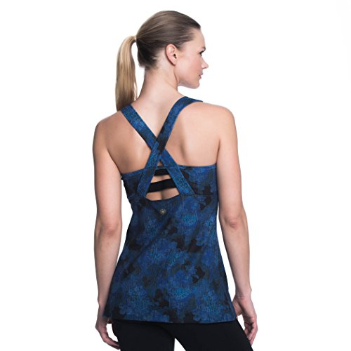 Gaiam Womens Willa Racerback Tank Top with Built in Medium Impact Wireless Bra