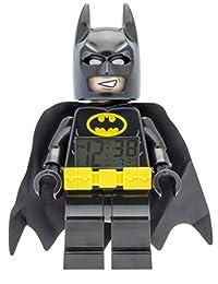 Lego Batman Movie 9009327 Batman Kids Minifigure Alarm Clock   Black/Yelow   Plastic   9.5 inches Tall   LCD Display   boy Girl   Official