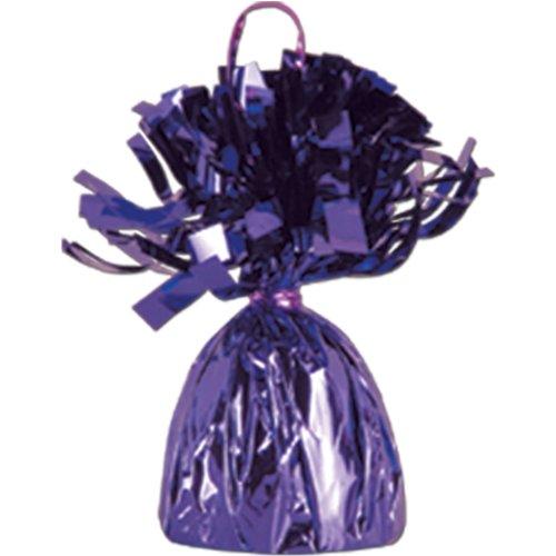 Purple Metallic Balloon Weight, 6oz 6 Per Pack