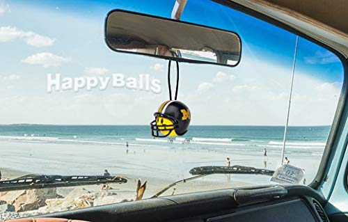 Yellow Face Auto Accessory Mirror Hanger Antenna Balls Quantity 3 pc Pack Missouri Mizzou Tigers College Football Car Antenna Topper Rear View Mirror Dangler