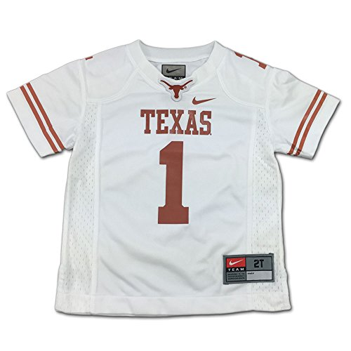 NIKE Texas Longhorns Toddler Jersey Shirt (White, - Nike Texas Jerseys