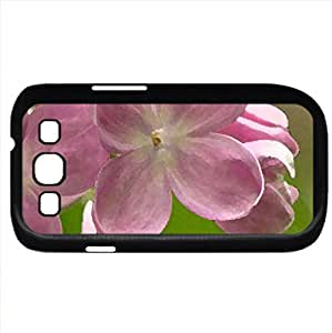 LOVELY FLOWERS (Flowers Series) Watercolor style - Case Cover For Samsung Galaxy S3 i9300 (Black)