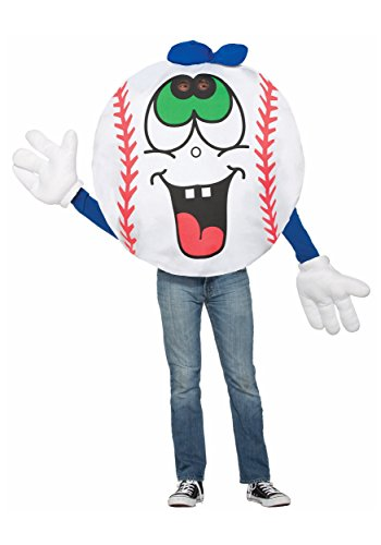 Forum 76832 Men's Baseball Costume, One Size, Multicolor, Pack of 1 ()