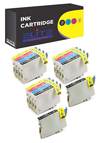 Aria Supplies Remanufactured 14 Pack Inkjet Cartridges for Epson T060 T060120 T060220 T060320 T060420 Compatible with Stylus C68, C88, C88Plus, CX3800, CX3810, CX4200, CX4800, CX5800F, -