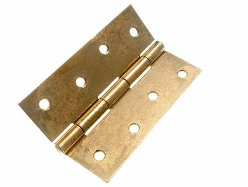 100 X Butt Hinge Door Gate Eb Brass Plated Steel 100Mm 4 Inch by DIRECT HARDWARE