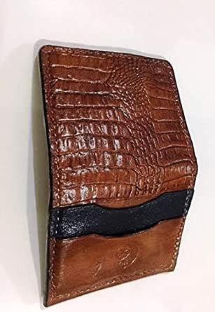 جلد بني لل رجال - محفظة للبطاقات والهويات