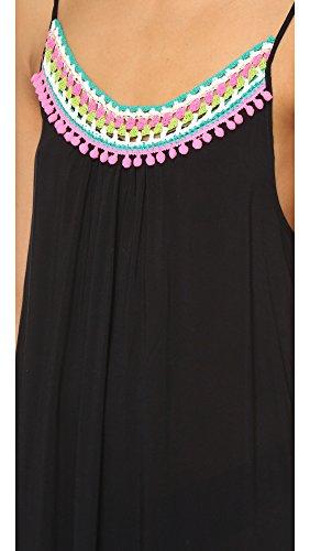 Red Carter Women's Splice & Dice Maxi Dress, Black, Large