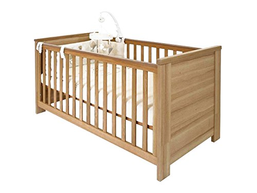 Little Guy Comfort Oakland Children's Convertible 3 in 1 Crib and Youth Bed - Vox 3 Light