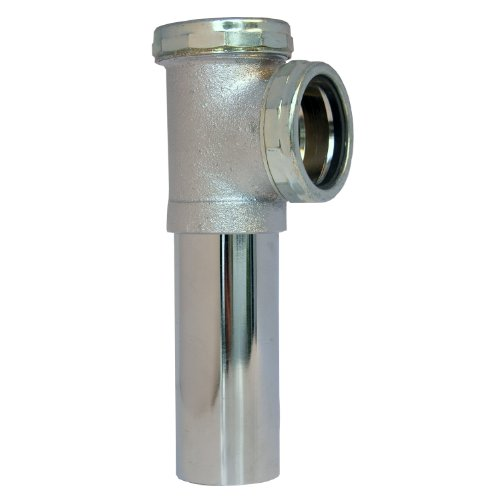 LASCO 03-4051 22-Gauge No Baffle Slip Joint Connection End Outlet Waste Tee, 1 1/2-Inch, Chrome Plated - Connection Joint Slip
