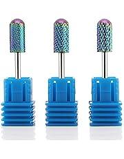 "Makartt Blue Tungsten Carbide Nail Drill Bits Set 3Pcs Acrylic Nail File Drill Bit Manicure Pedicure 3/32"""